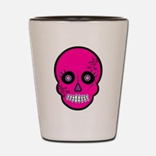 Pink Sugar Skull Day of the Dead Shot Glass