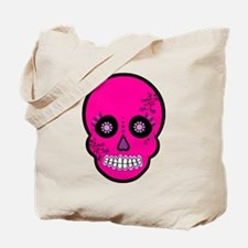 Pink Sugar Skull Day of the Dead Tote Bag