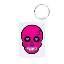 Pink Sugar Skull Day of the Dead Keychains
