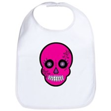 Pink Sugar Skull Day of the Dead Bib