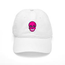 Pink Sugar Skull Day of the Dead Baseball Cap