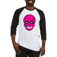 Pink Sugar Skull Day of the Dead Baseball Jersey