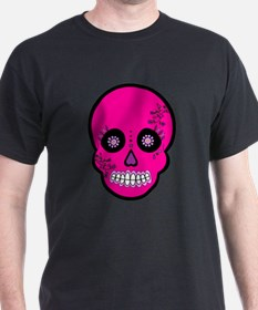 Pink Sugar Skull Day of the Dead T-Shirt
