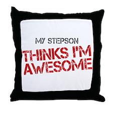 Stepson Awesome Throw Pillow