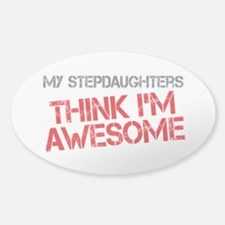Stepdaughters Awesome Sticker (Oval)