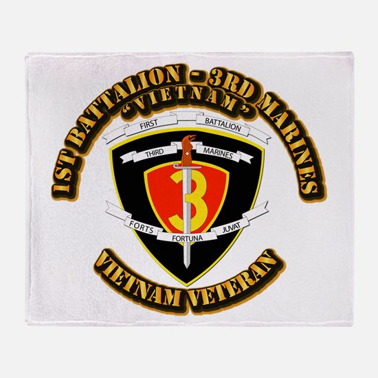 SSI - 2nd Battalion - 3rd Marines USMC VN Throw Bl