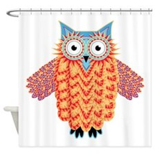 Aztec Owl - Bright and Colorful Shower Curtain
