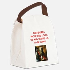 bartender Canvas Lunch Bag