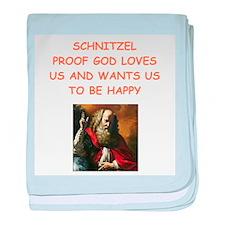 schnitzel baby blanket