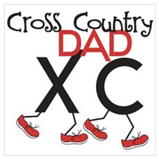 Cross Country Dad Wall Art Poster