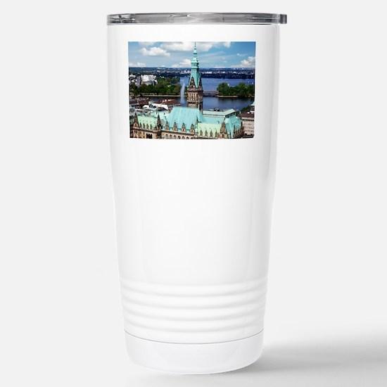 Hamburg Town Hall Stainless Steel Travel Mug