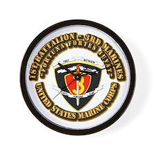 SSI - 1st Battalion - 3rd Marines With Text USMC W
