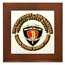 SSI - 1st Battalion - 3rd Marines With Text USMC F