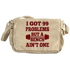 Red 99 Problems But A Bench Ain't On Messenger Bag
