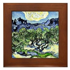 Van Gogh - The Alpilles with Olive Tre Framed Tile