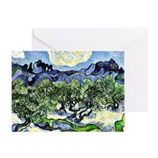 Van Gogh - The Alpilles with Olive T Greeting Card
