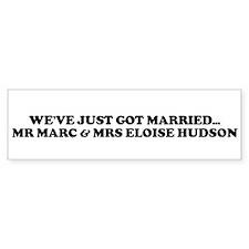 WE'VE JUST GOT MARRIED... MR Bumper Bumper Sticker