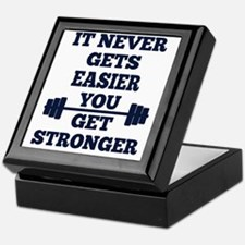It Never Gets Easier You Get Stronger Keepsake Box