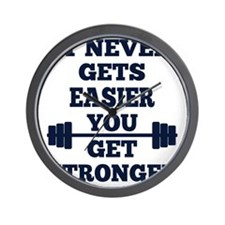 It Never Gets Easier You Get Stronger Wall Clock
