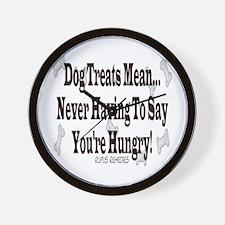 Dog Treat Saying Wall Clock