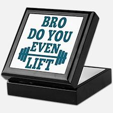 Bro Do You Even Lift Blue Keepsake Box