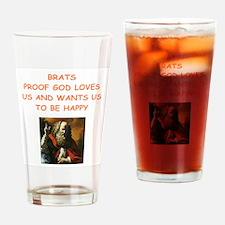 brats Drinking Glass