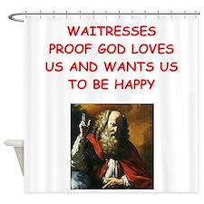 waitress Shower Curtain