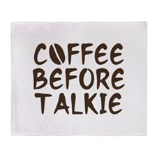 Coffee Before Talkie Stadium Blanket