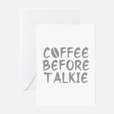 Coffee Before Talkie Greeting Cards (Pk of 20)