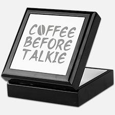 Coffee Before Talkie Keepsake Box