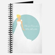 Here Comes the Bride Blonde Hair Blue Journal