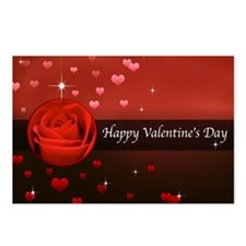 Happy Valentines Day Romantic Rose Postcards (Pack