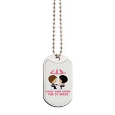 34th Anniversary Paris Couple Dog Tags