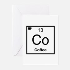 Co Coffee Element Greeting Cards (Pk of 20)