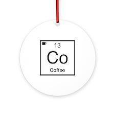 Co Coffee Element Ornament (Round)
