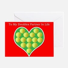 Heart Filled With Tennis Balls Valentines Greeting