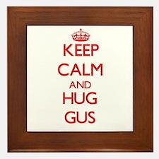 Keep Calm and HUG Gus Framed Tile