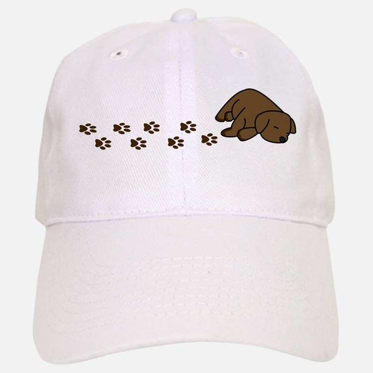 Chocolate Baseball Cap: Chocolate Labrador Puppy Hats