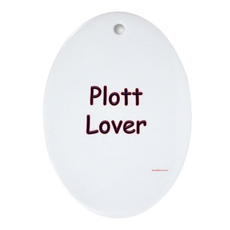 Plott Lover Oval Ornament