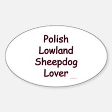 Lowland Lover Oval Decal