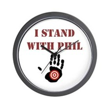 I STAND WITH PHIL Wall Clock