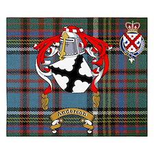 King Duvet Anderson Family Name + Scottish Crest