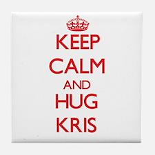 Keep Calm and HUG Kris Tile Coaster