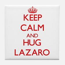 Keep Calm and HUG Lazaro Tile Coaster