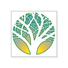 "WISH Tree Square Sticker 3"" x 3"""