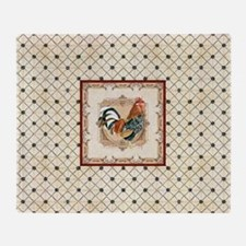 Vintage Rooster Country French Watercolor Cream Th