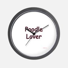 Poodle Lover Wall Clock