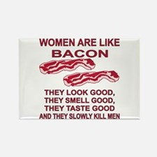 Women Are Like Bacon Rectangle Magnet
