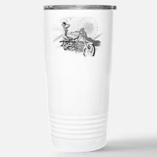Motorcycle Pinup Stainless Steel Travel Mug