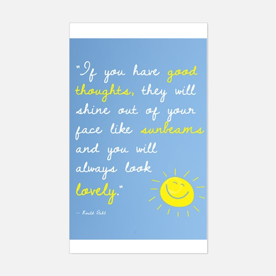 If You Have Good Thoughts Sticker (Rectangle)